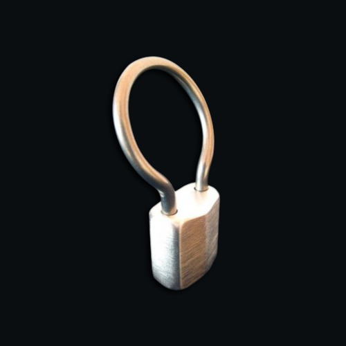 chastity lock with angled loop